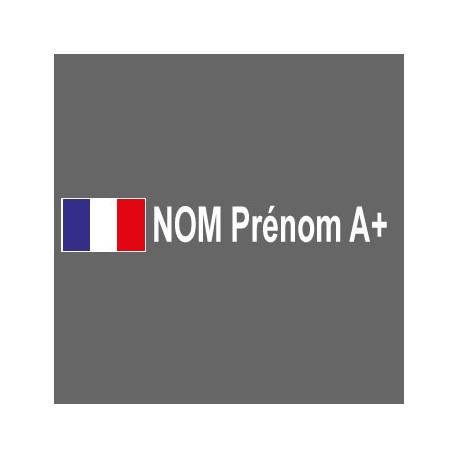 Drapeau - Pilote - Groupe sanguin X2