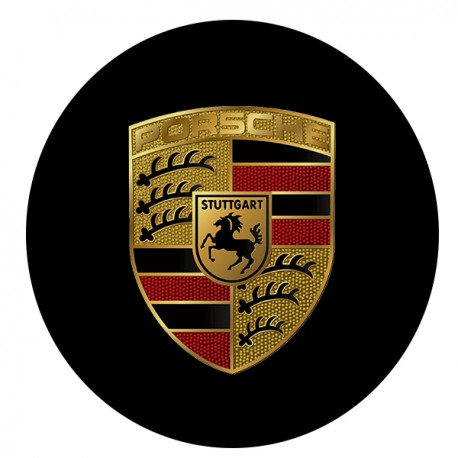 Patch rond écusson Porsche