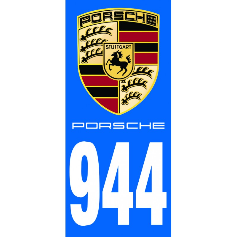 stickers plaque immatriculation porsche tous mod les. Black Bedroom Furniture Sets. Home Design Ideas